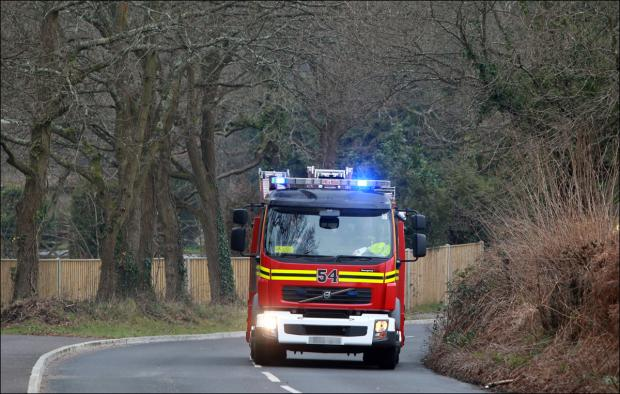 Daily Echo: Hampshire Fire and Rescue dealt with a fire in an airing cupboard