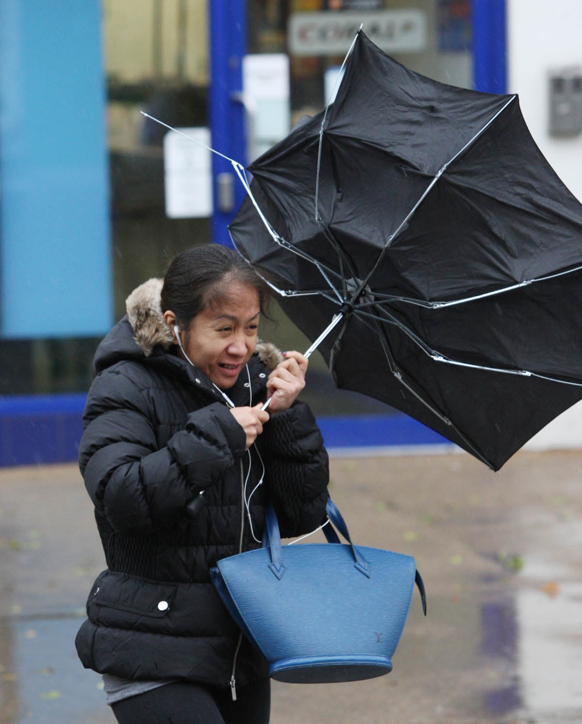 Heavy rain and strong winds are forecast to batter Hampshire tomorrow