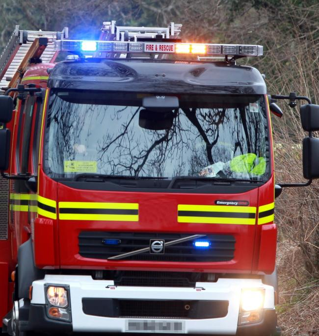 Mum and daughter flee blaze in home