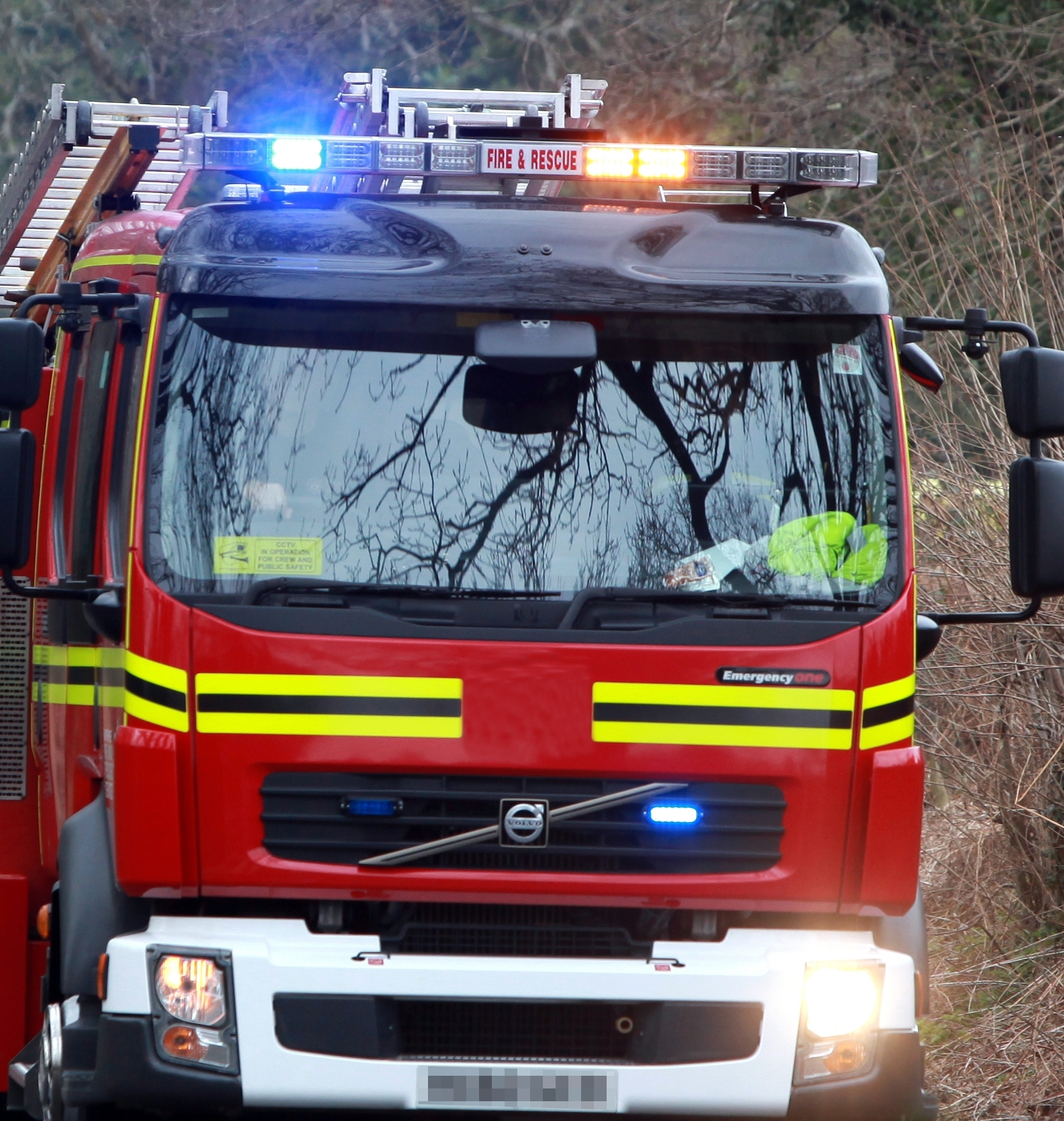 Family flee house blaze