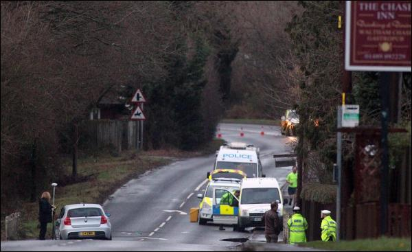 The scene of the crash in Waltham Chase