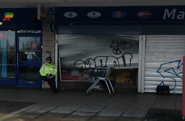 Are newsagent ramraid gang linked to petrol station raid?