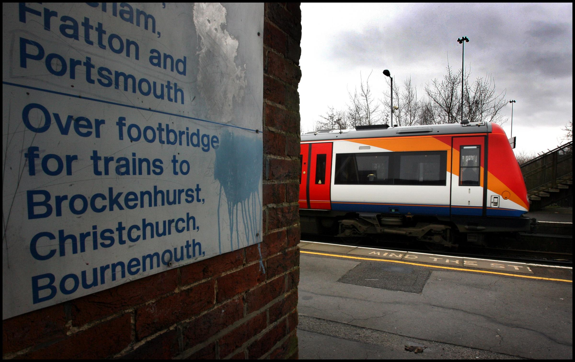 Rail delays across Hampshire