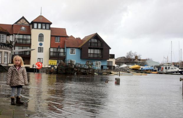 Flooding in Lymington last month