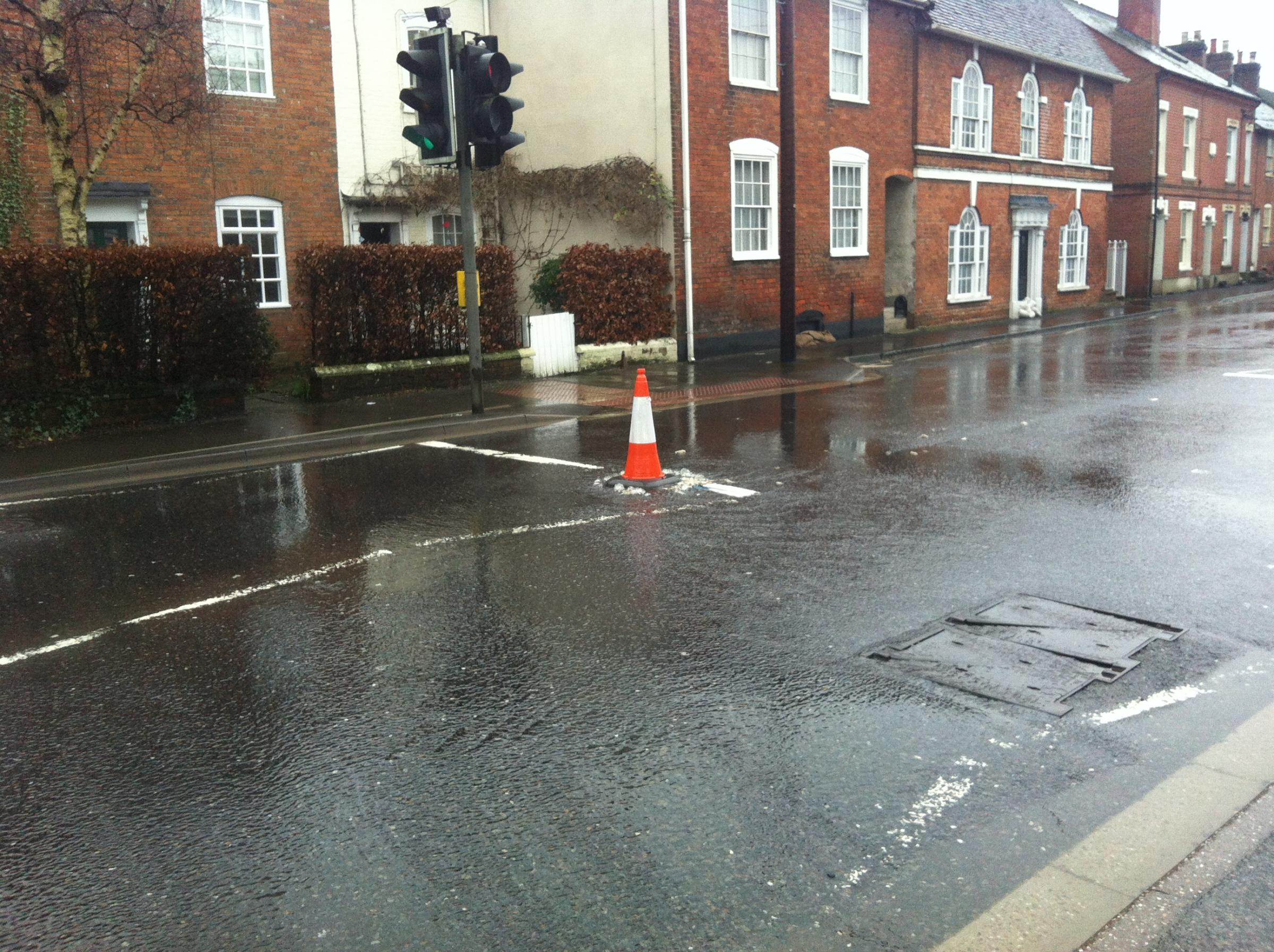 Raw sewage floods on to streets