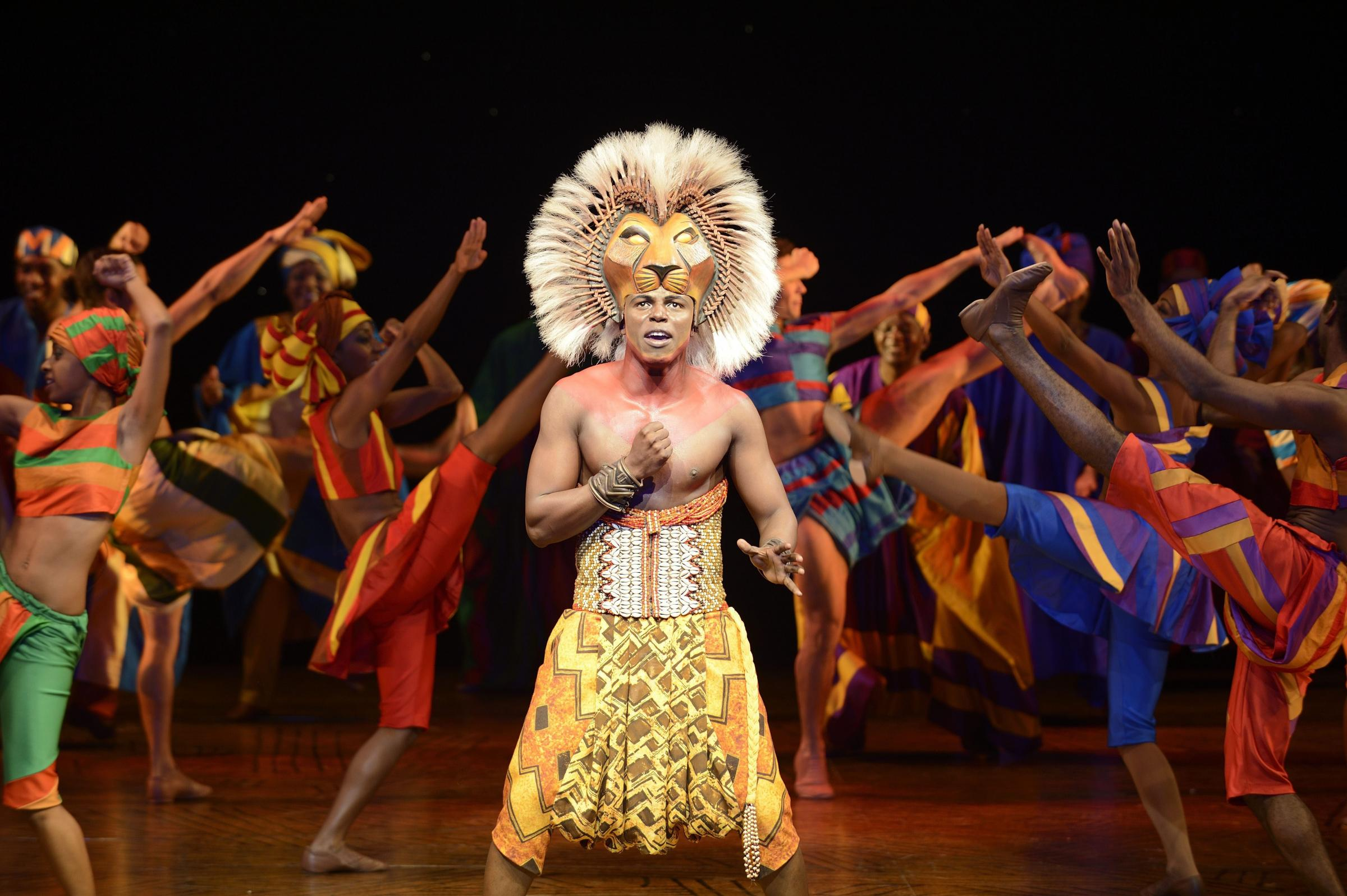Nicholas Nkuna as Simba in The Lion King