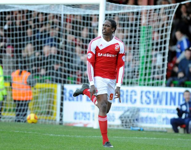 Nile Ranger in action for Swindon Town