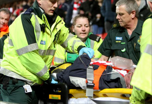 Saints fan in heart attack scare at St Mary's
