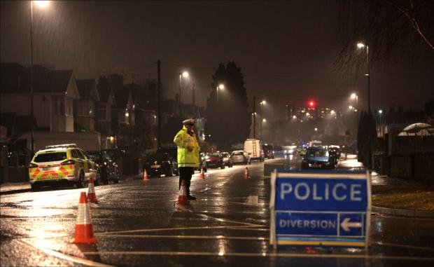 Regents Park Road closed to traffic tonight.