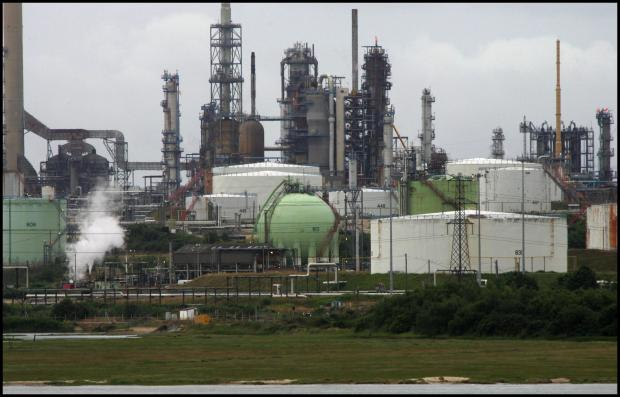 DEMONSTRATION: Workers at Fawley refinery were due to stage a protest today.