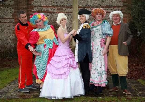 Villagers stage their first-ever panto