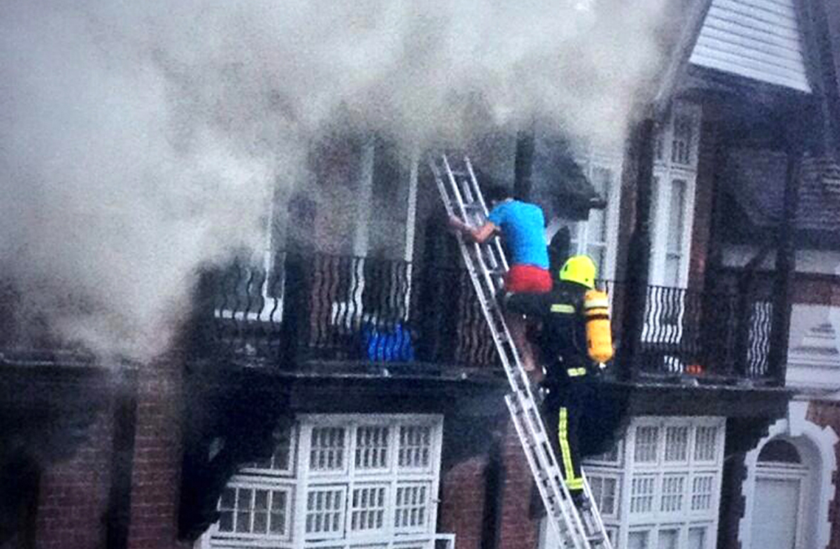 'I would have had to jump' says man rescued from burning building