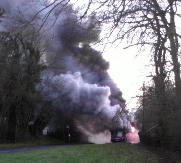 Urgent fleet inspection after bus destroyed by fire