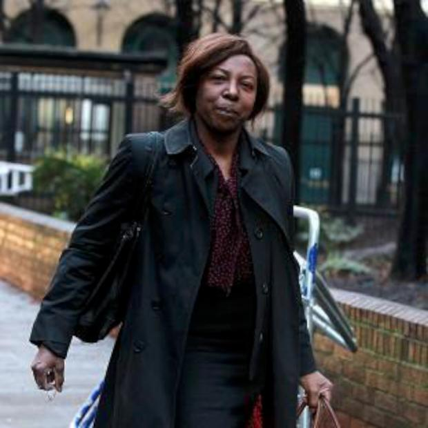 Daily Echo: Constance Briscoe outside Southwark crown Court