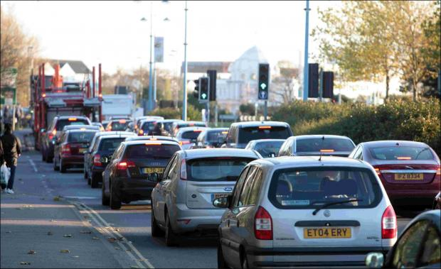 Traffic in Southampton earlier this year