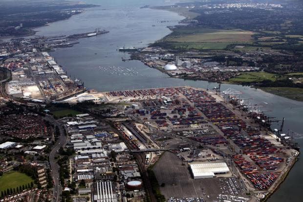 Daily Echo: River Test and Southampton Water as seen from the air