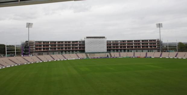 Daily Echo: WORK STOPPED: On the luxury hotel at the Ageas Bowl