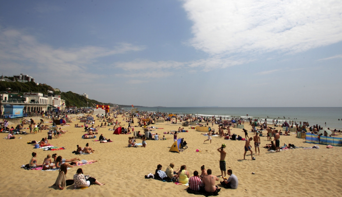 South coast residents enjoying the sunshine at Bournemouth beach last year and boosting their immunity to cardiovascular problems in the process.