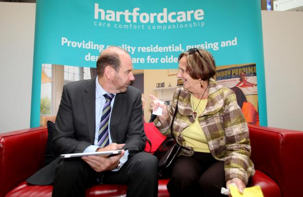NATTER: Ian Murray talking with Gay Springett on a previous Big Red Sofa Tour visit to WestQuay shopping centre.