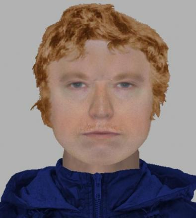 Face of pervert who flashed at girl aged 11 under footbridge
