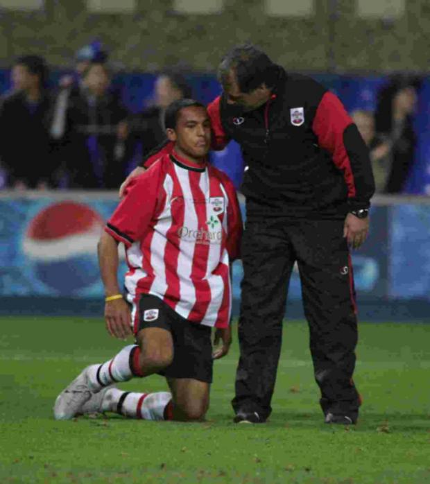 Daily Echo: Theo Walcott reacts after losing the 2005 Youth Cup final.