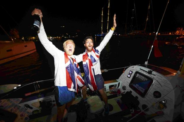 SUCCESS: Will North and Dan Howie arrived at English Harbour in Antigua. Pictures by jellyfish.co.uk