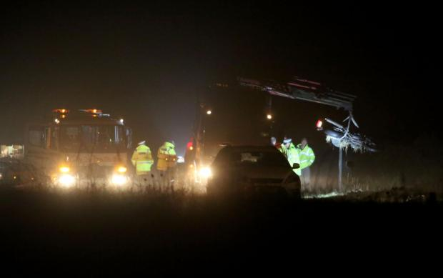 The aftermath of last week's fatal accident on the A31.