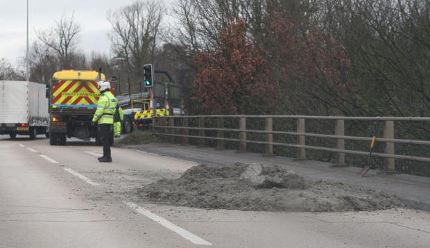 Daily Echo: The silt on junction three of the M27.