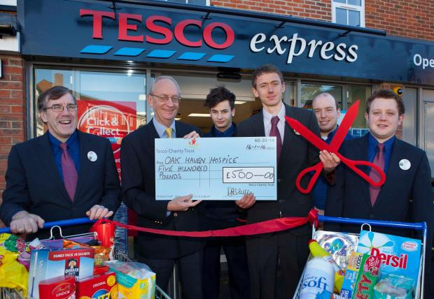 Store marks launch with £500 hospice donation