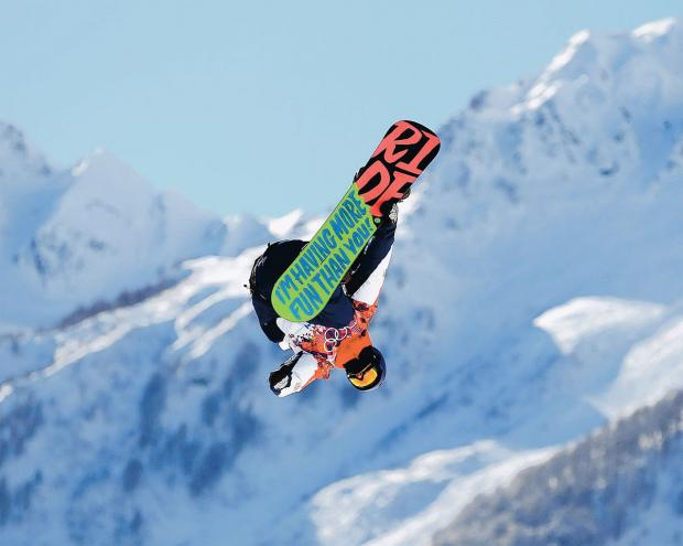 Billy Morgan thrills the crowds with his snowboard slopestyle tricks in Sochi