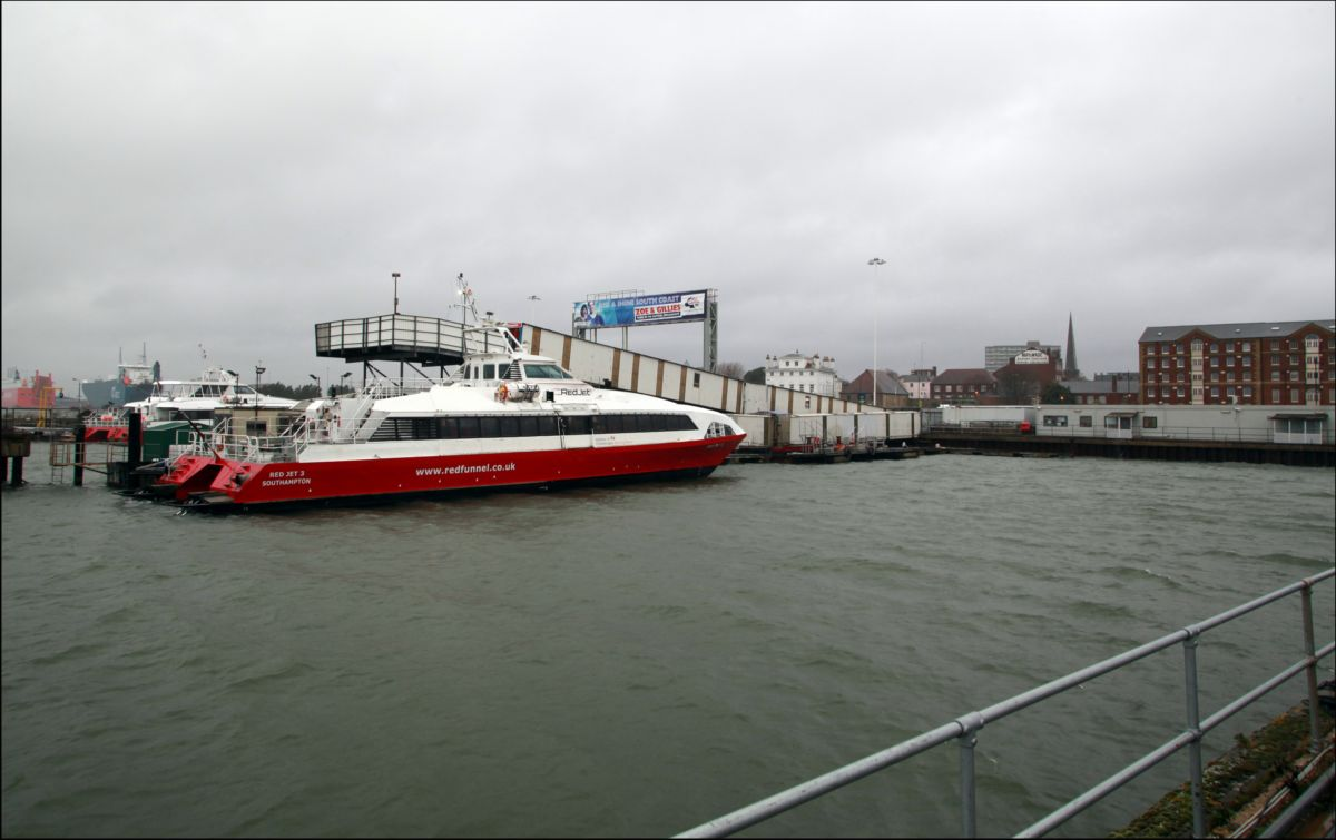 The Red Funnel terminal at Town Quay in Southampton.