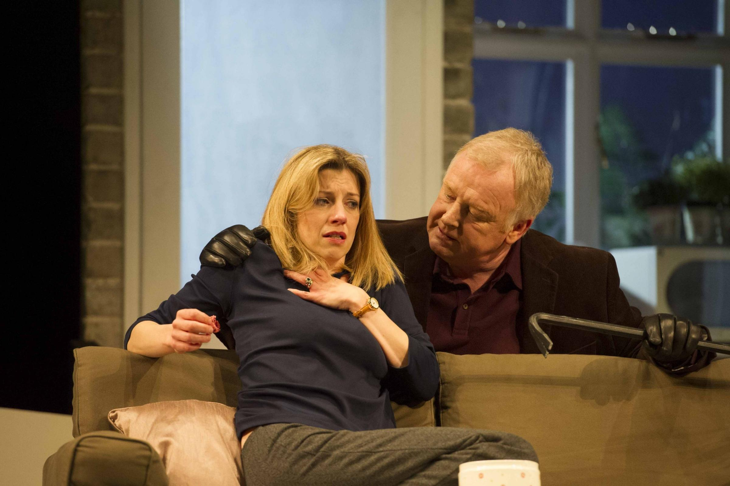 Claire Goose and Les Dennis in The Perfect Murder