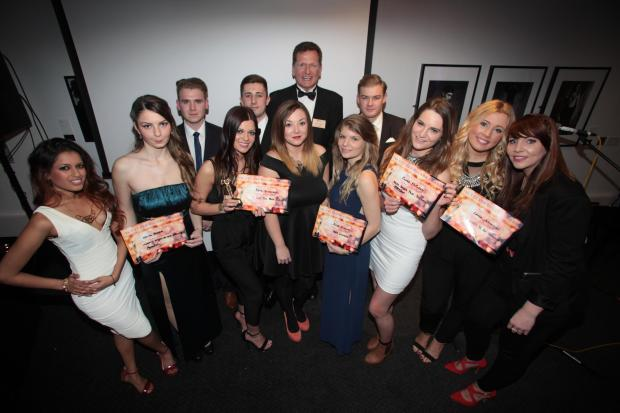 Winners at Southampton Solent University's Oscars-style awards night