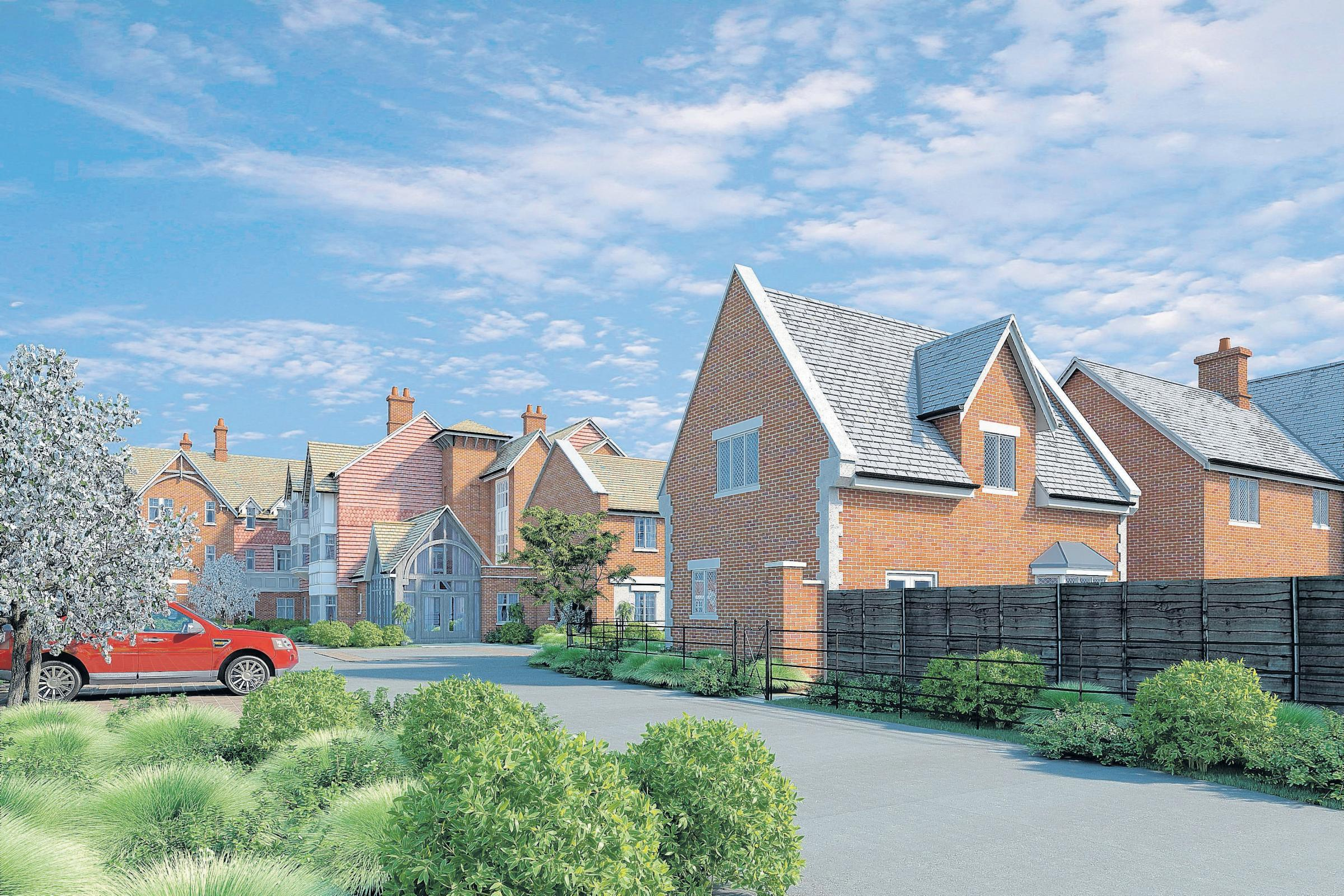 An artist's impression of the proposed McCarthy & Stone development