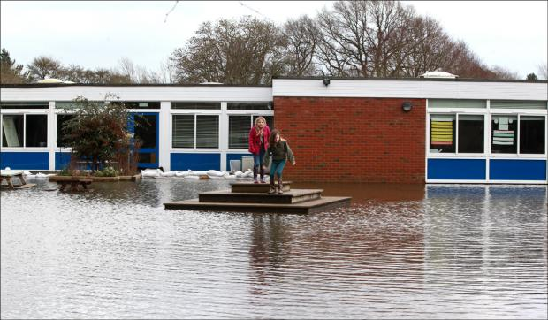 Fordingbridge Junior School shut because of flooding