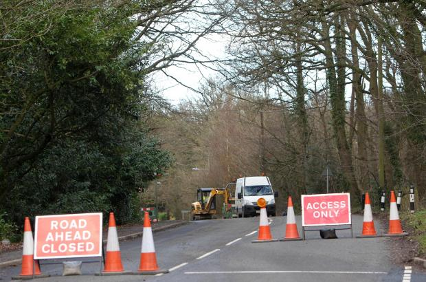 Roadworks in Colden Common have caused lengthy traffic delays