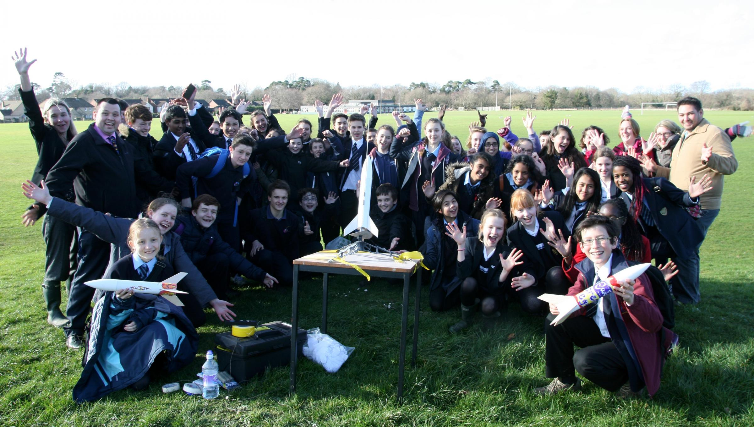 Rockets blast off as part of physics event at Sarisbury school