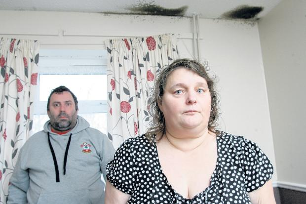 Daily Echo: Sarah and Paul Sawyer are concerned about the damp and mould in their home