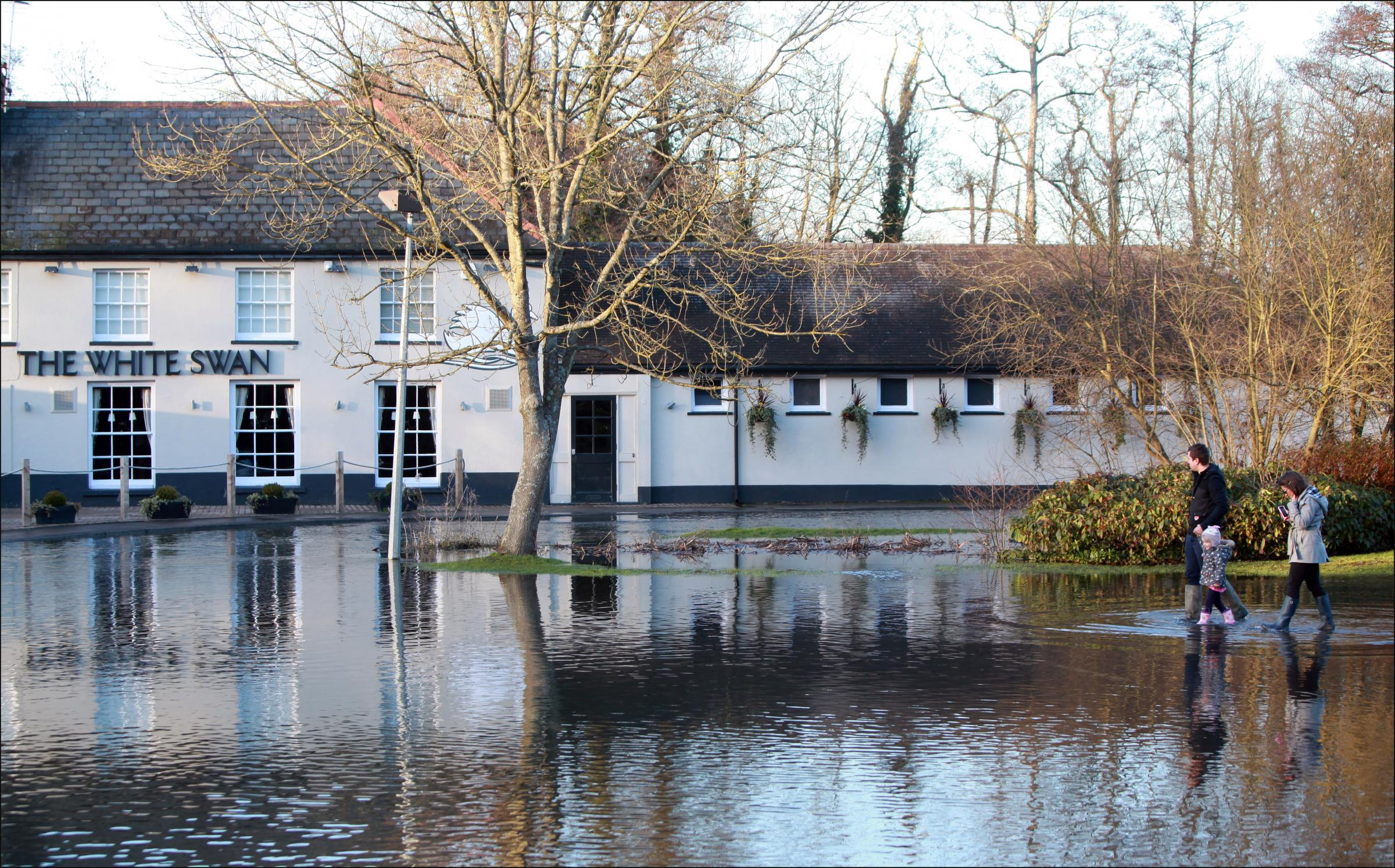 Flooding at the White Swan in Mansbridge, Southampton, last week