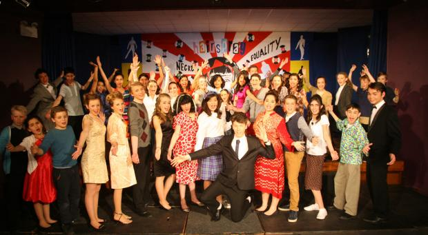 The cast of Hairspray at St Mary's College.