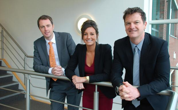 Appoint Group founder Simon Berry, lead  recruitment consultant Erin Banner and Russell Mogridge, the business space director at commercial property consultancy Hughes Ellard