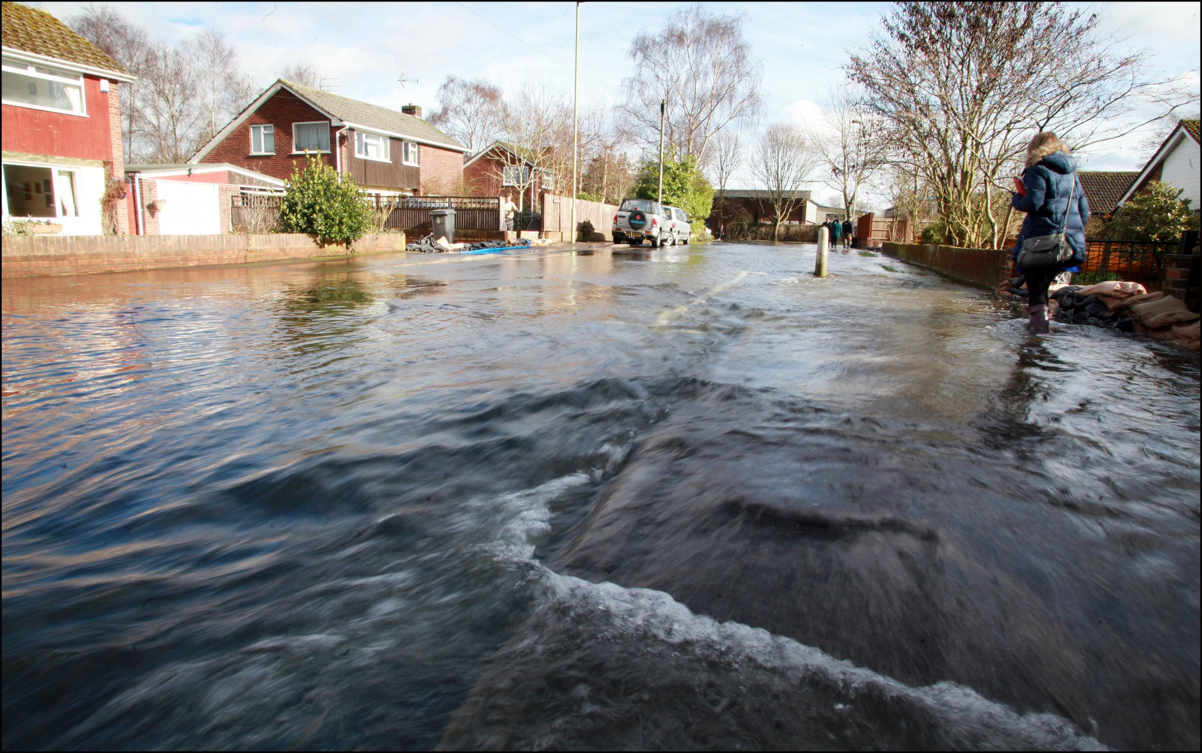 Flooding in Romsey earlier this year.