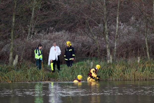 Emergency teams at Lakeside Country Park in Eastleigh