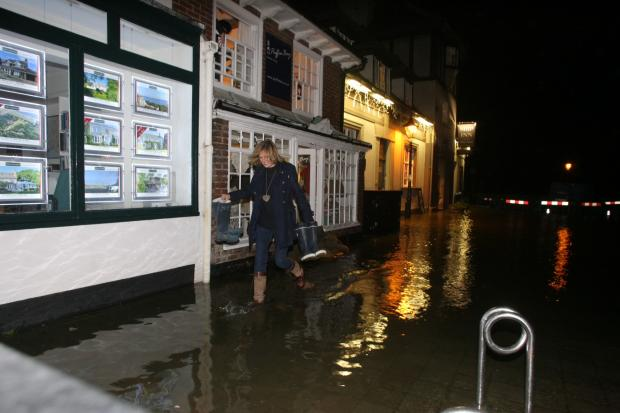 Flooding in Lymington