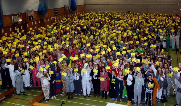 School breaks the world record for wearing most onsies