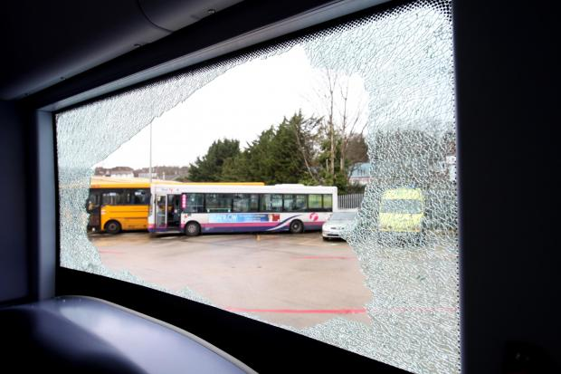 Daily Echo: Bus services in Millbrook, Southampton, have been stopped again after yobs attacked them with rocks