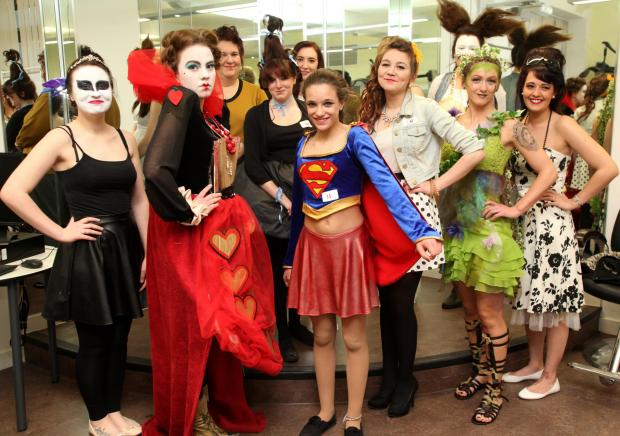 Daily Echo: The students dressed to impress. Echo pictures by Chris Moorhouse. Order no: 17978710