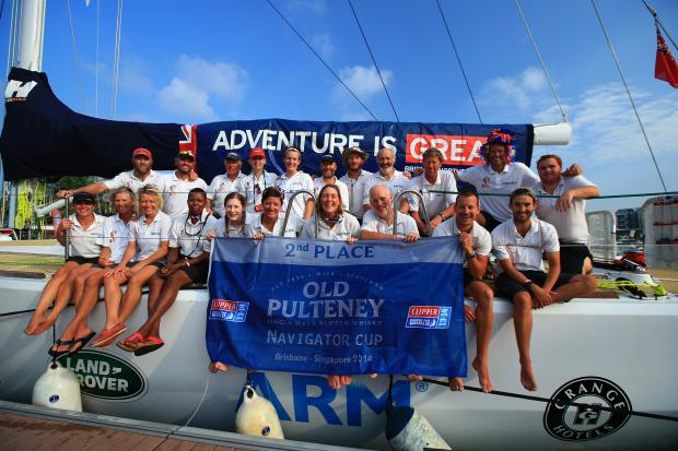 The Great Britain team who are under way once more for the latest leg of the Clipper Round the World yacht race