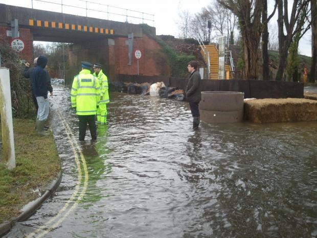 Daily Echo: Flooding in Romsey today