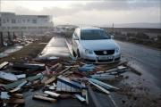 Damage caused by the Valentine's Day storm in Milford on Sea